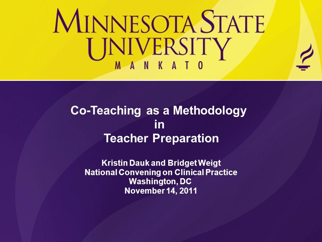 Co-Teaching as a Methodology in Teacher Preparation