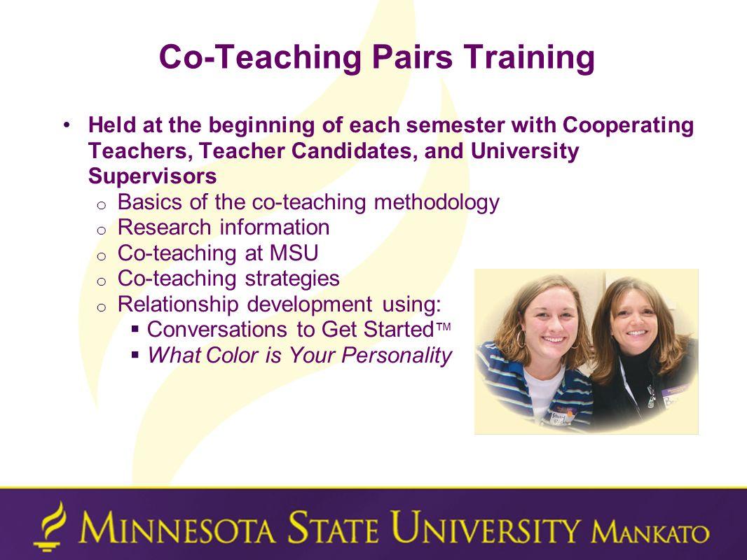 Co-Teaching Pairs Training