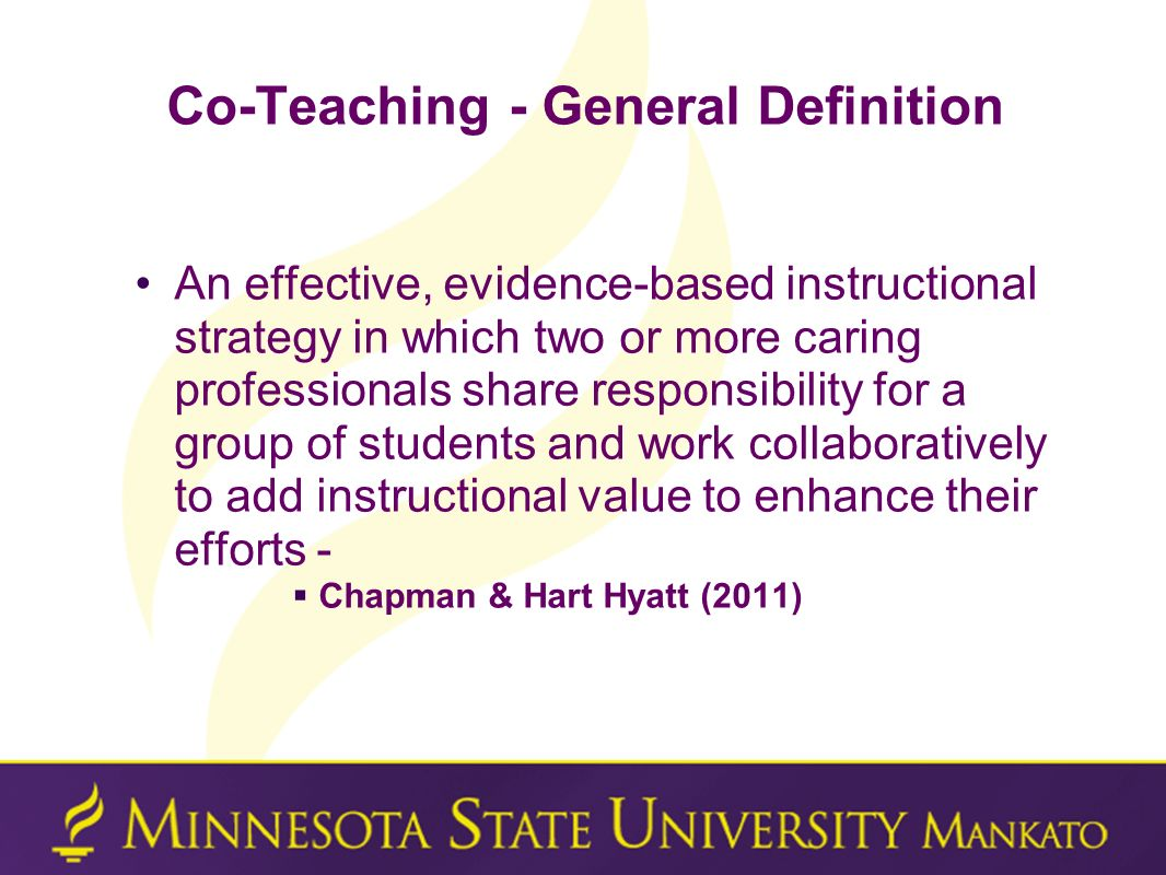 Co-Teaching - General Definition