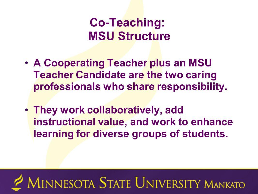 Co-Teaching: MSU Structure