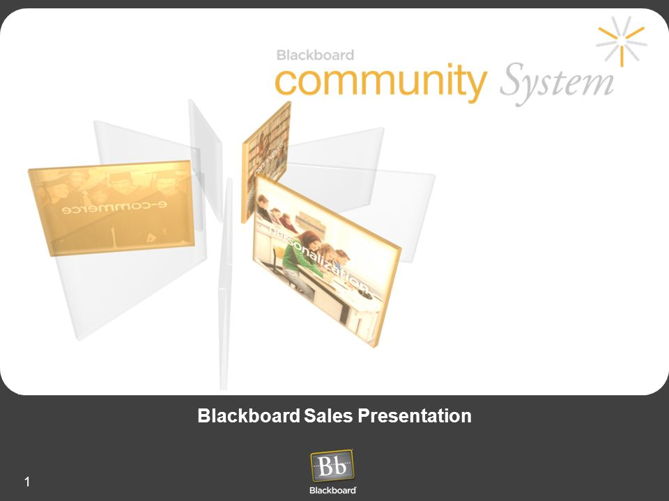 Blackboard Sales Presentation