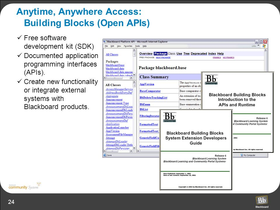 Anytime, Anywhere Access: Building Blocks (Open APIs)