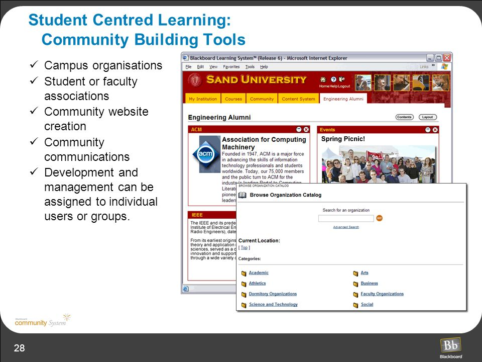 Student Centred Learning: Community Building Tools