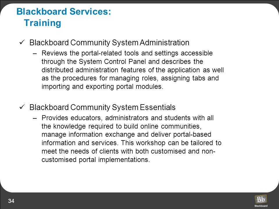 Blackboard Services: Training