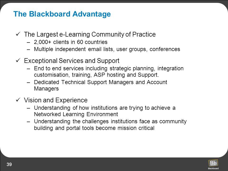 The Blackboard Advantage