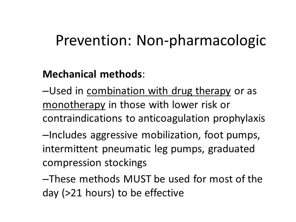 Prevention: Non-pharmacologic