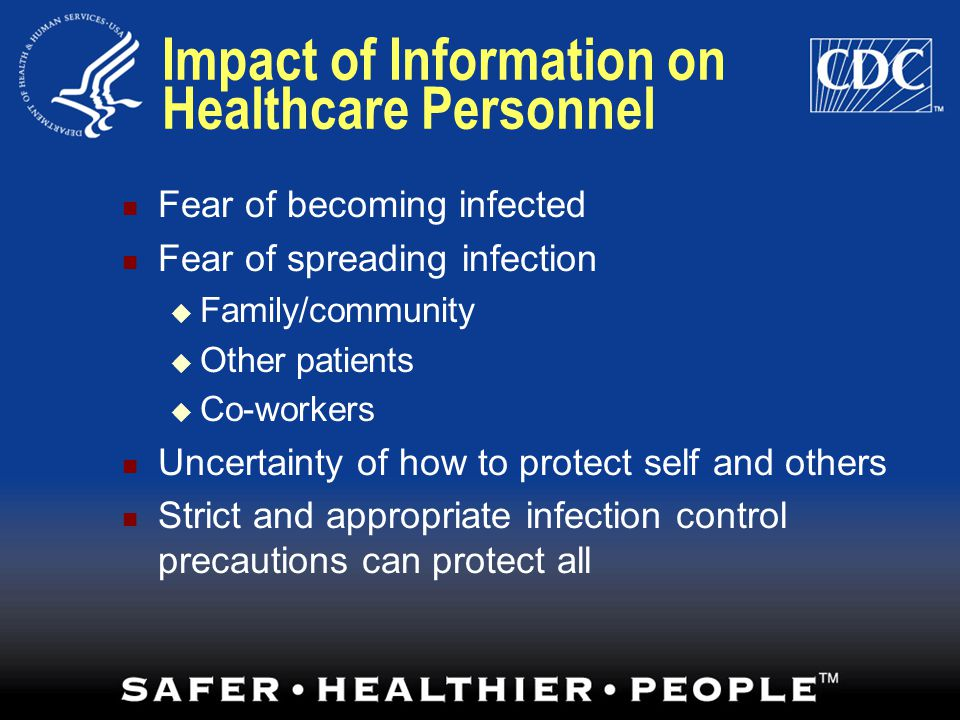 Impact of Information on Healthcare Personnel