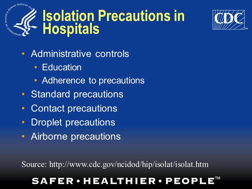 Isolation Precautions in Hospitals