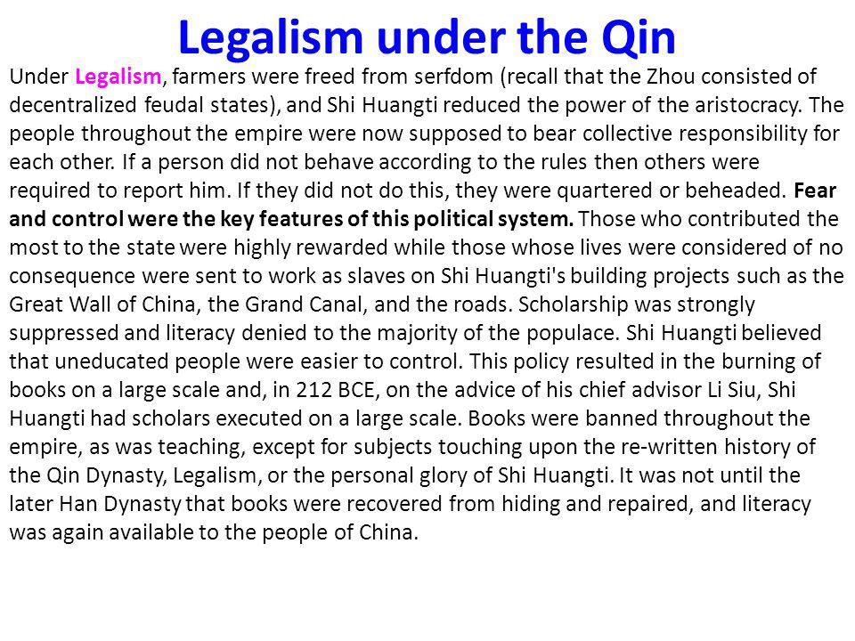 Legalism under the Qin
