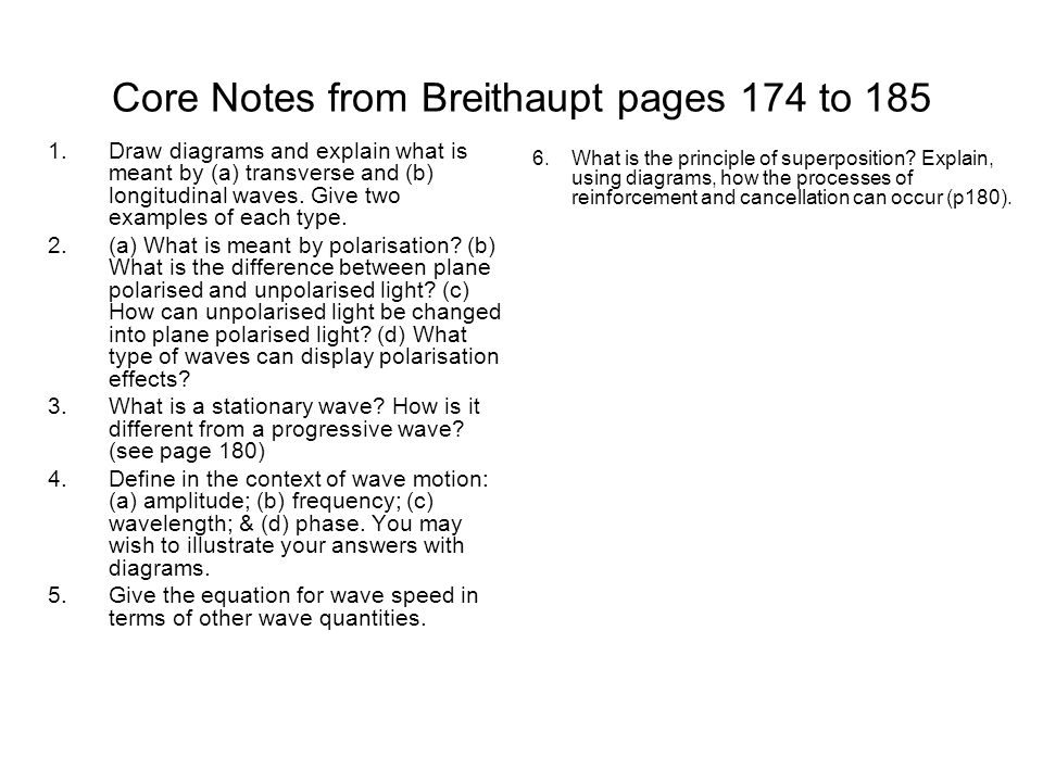 Core Notes from Breithaupt pages 174 to 185