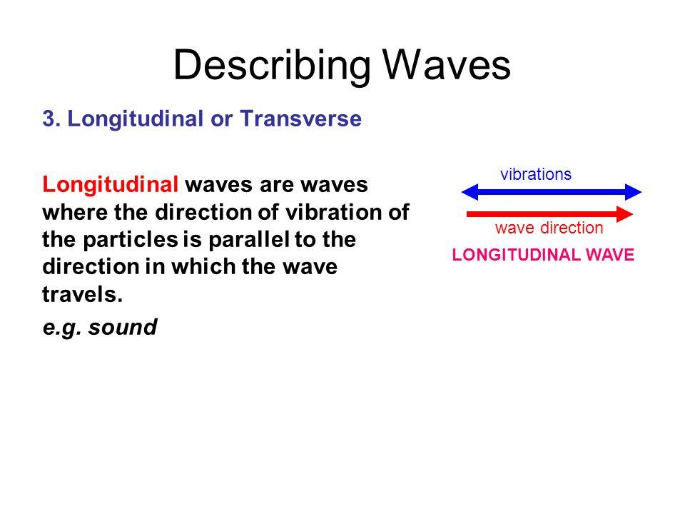 Describing Waves 3. Longitudinal or Transverse