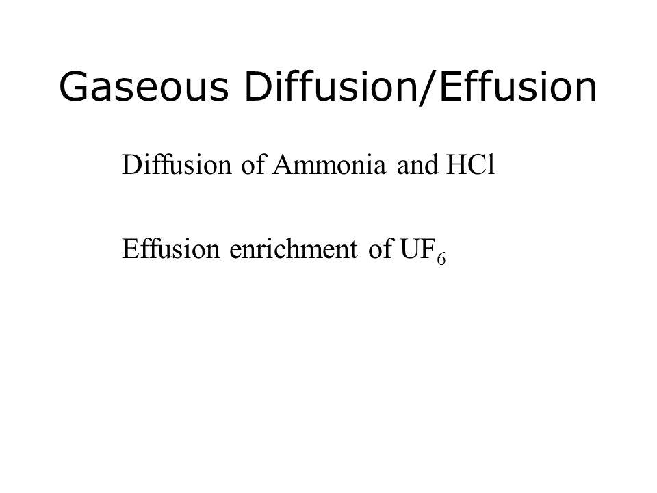 Gaseous Diffusion/Effusion