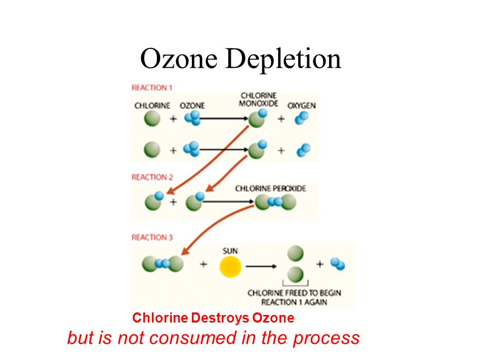 Chlorine Destroys Ozone