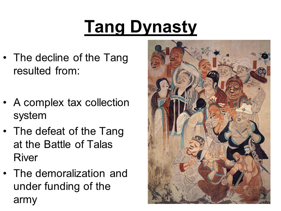 Tang Dynasty The decline of the Tang resulted from:
