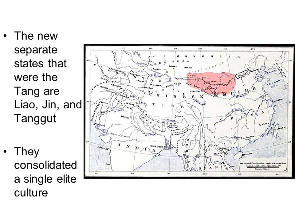 The new separate states that were the Tang are Liao, Jin, and Tanggut
