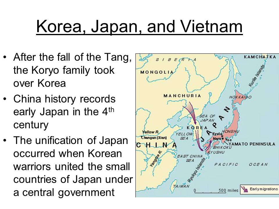 Korea, Japan, and Vietnam