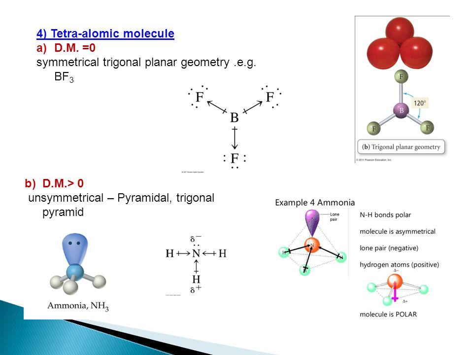 4) Tetra-alomic molecule