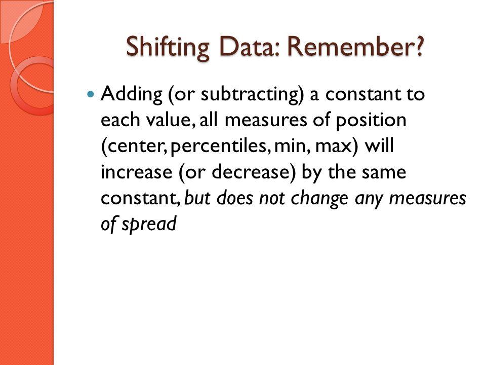 Shifting Data: Remember
