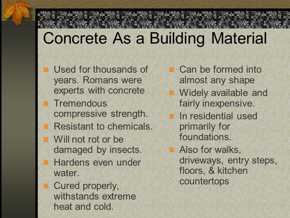 Concrete As a Building Material