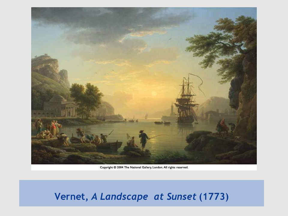 Vernet, A Landscape at Sunset (1773)