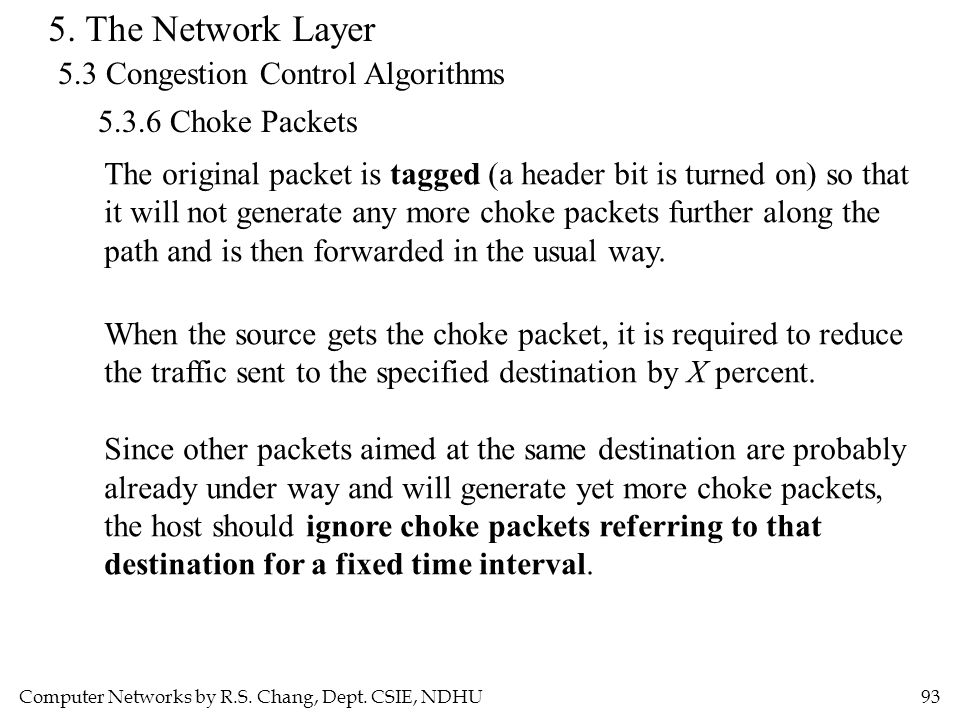 5. The Network Layer 5.3 Congestion Control Algorithms