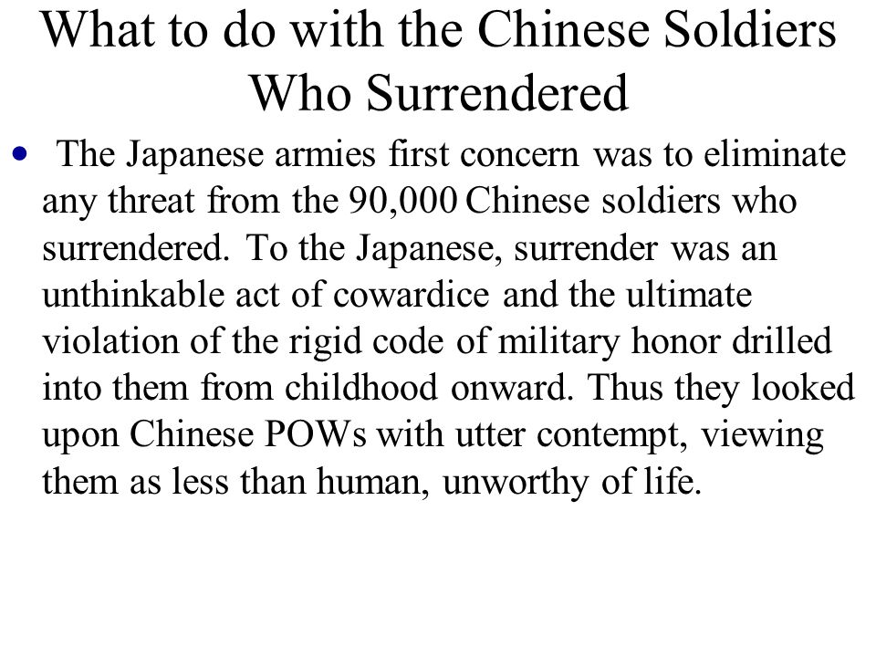 What to do with the Chinese Soldiers Who Surrendered