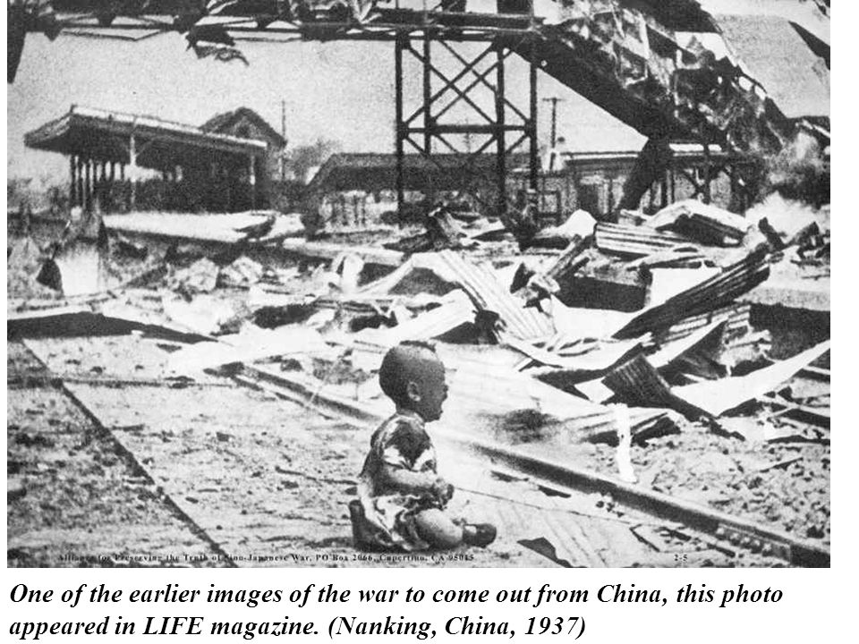 One of the earlier images of the war to come out from China, this photo appeared in LIFE magazine.