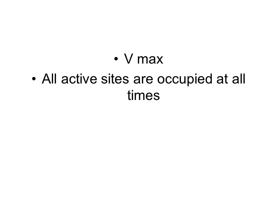 All active sites are occupied at all times