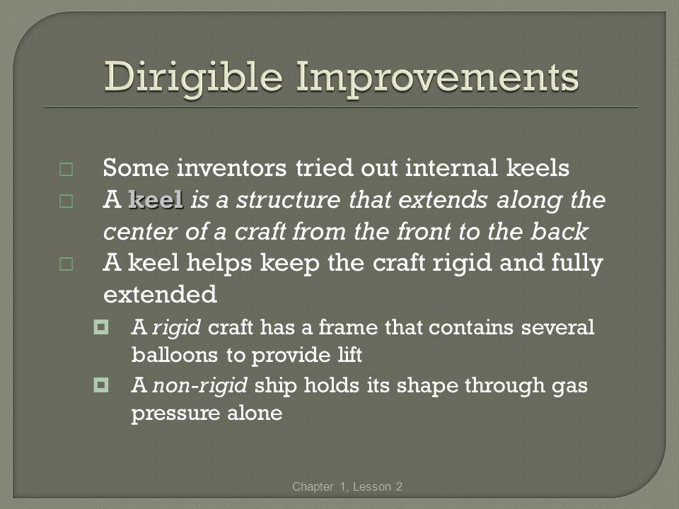 Dirigible Improvements