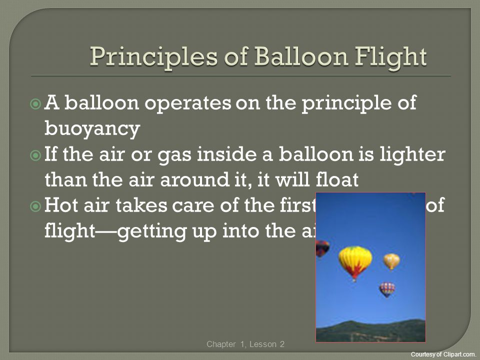Principles of Balloon Flight
