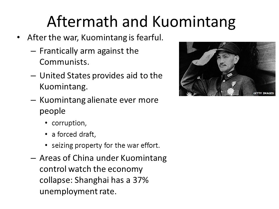 Aftermath and Kuomintang