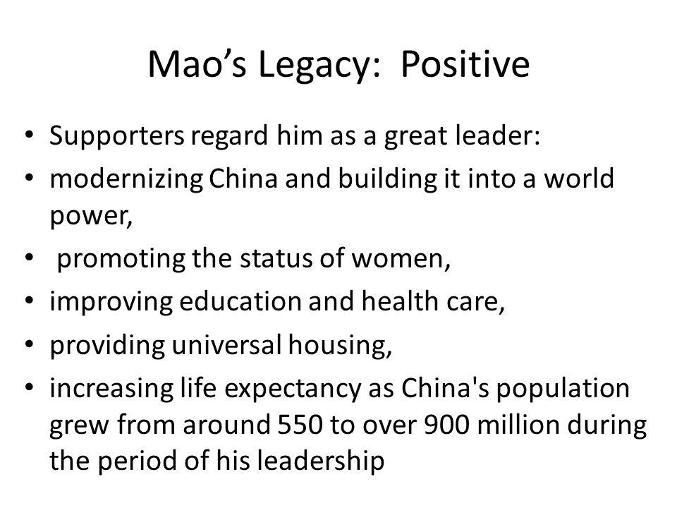 Mao's Legacy: Positive