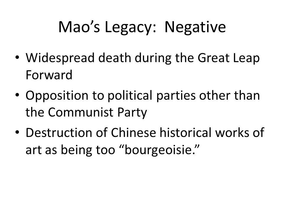 Mao's Legacy: Negative