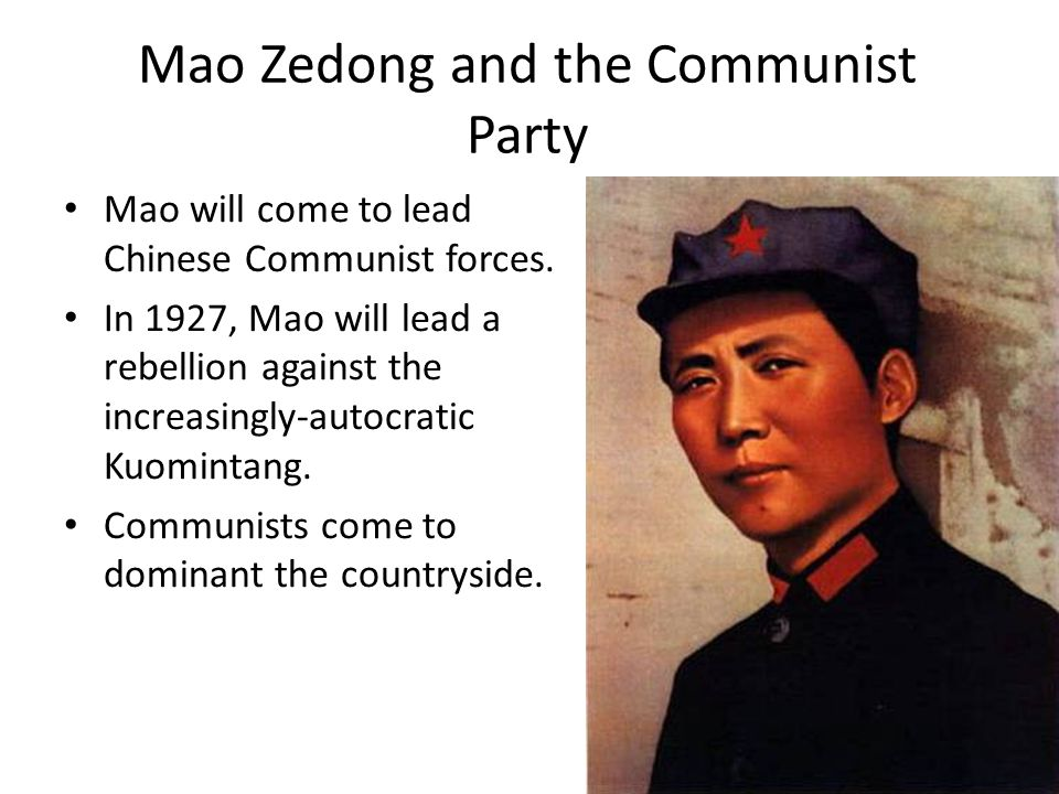 Mao Zedong and the Communist Party