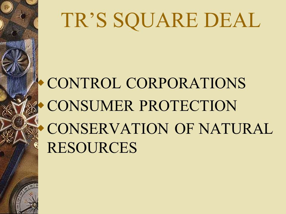 TR'S SQUARE DEAL CONTROL CORPORATIONS CONSUMER PROTECTION