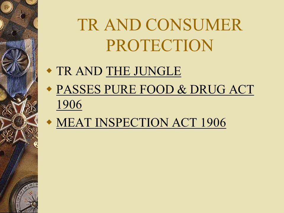 TR AND CONSUMER PROTECTION