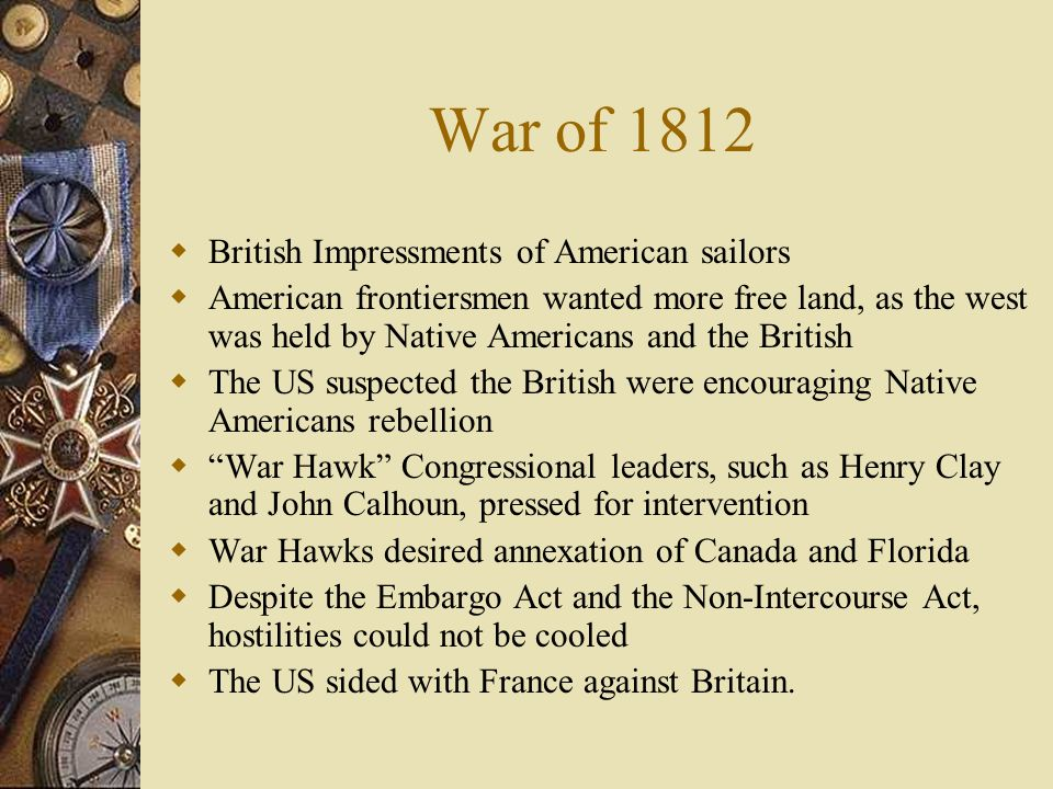 War of 1812 British Impressments of American sailors
