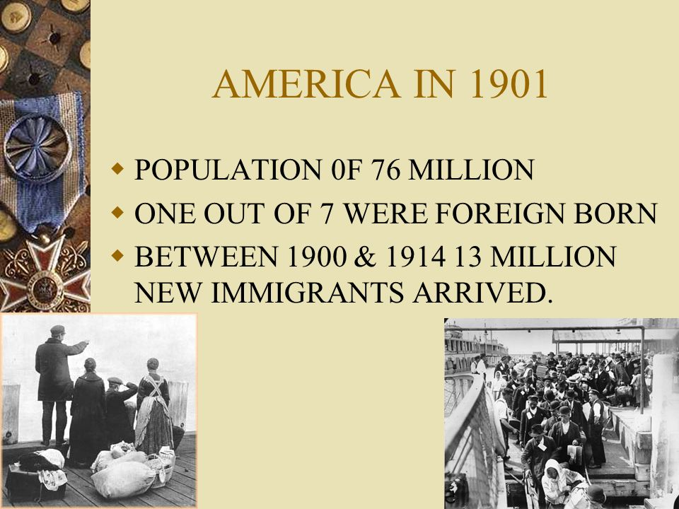 AMERICA IN 1901 POPULATION 0F 76 MILLION