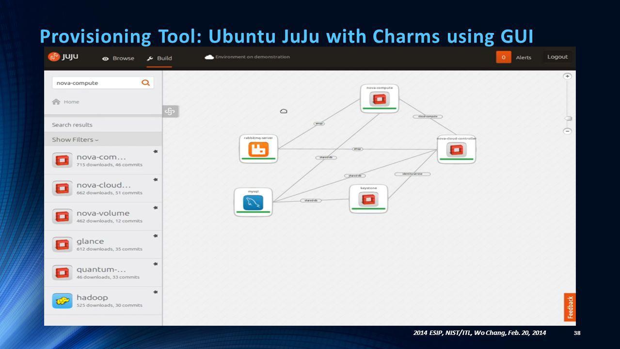 Provisioning Tool: Ubuntu JuJu with Charms using GUI
