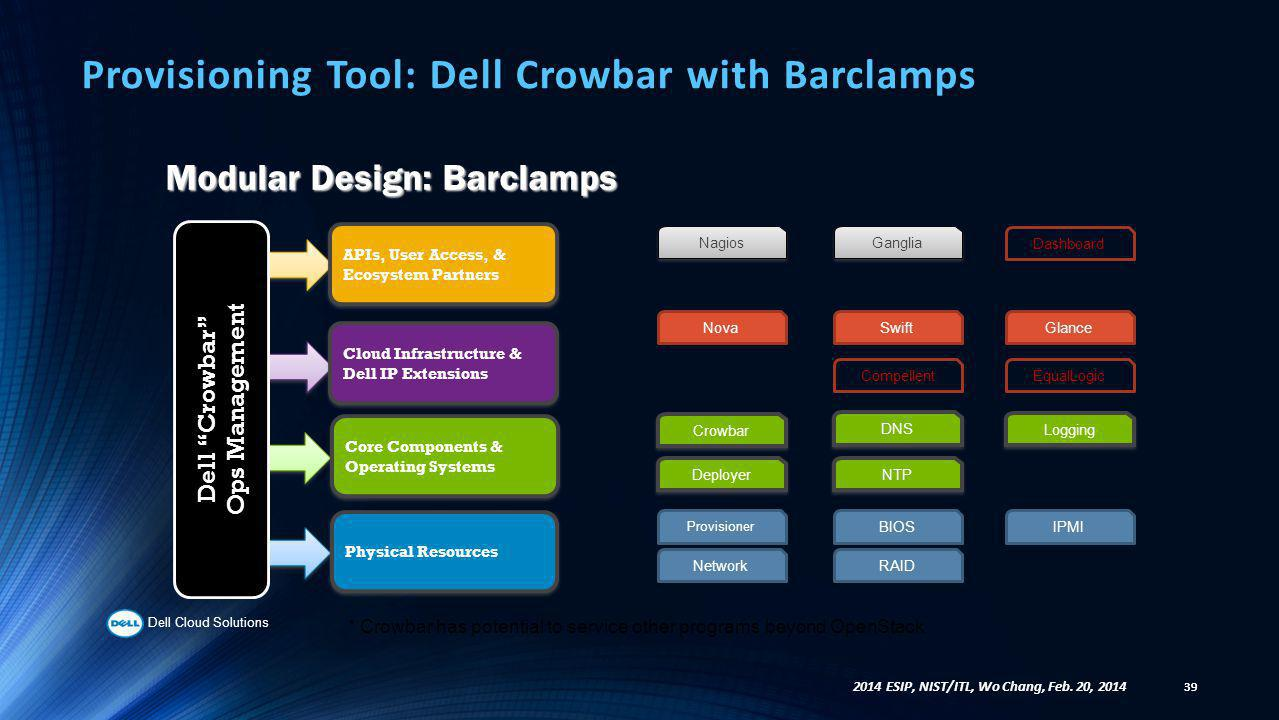 Provisioning Tool: Dell Crowbar with Barclamps