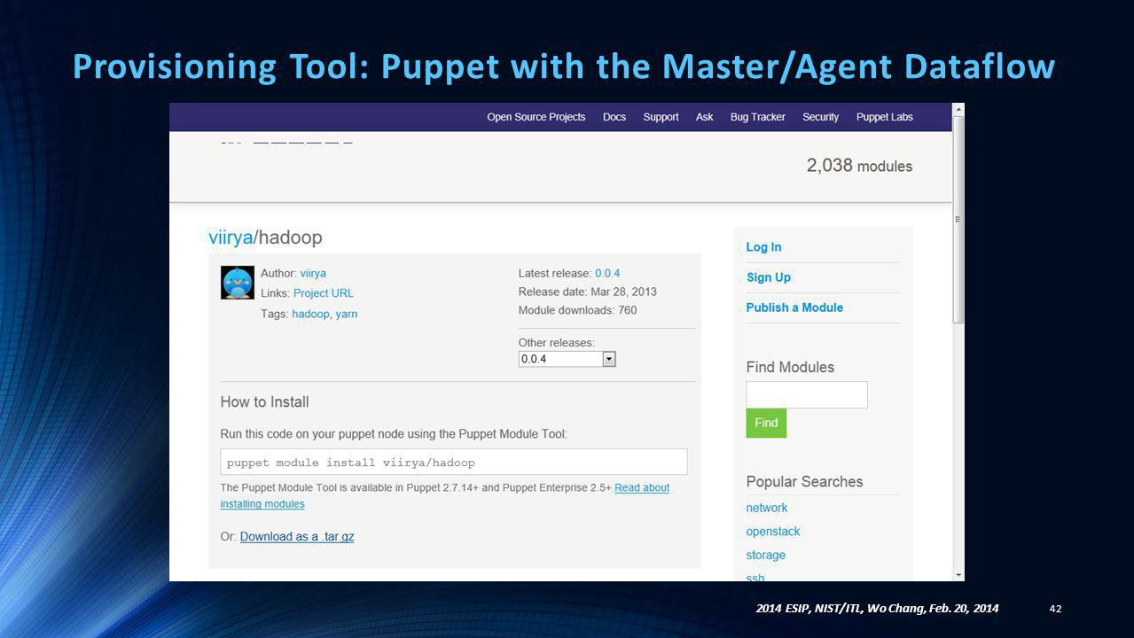 Provisioning Tool: Puppet with the Master/Agent Dataflow