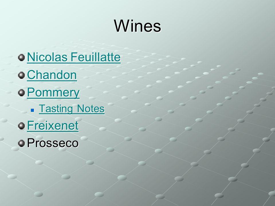 Wines Nicolas Feuillatte Chandon Pommery Freixenet Prosseco