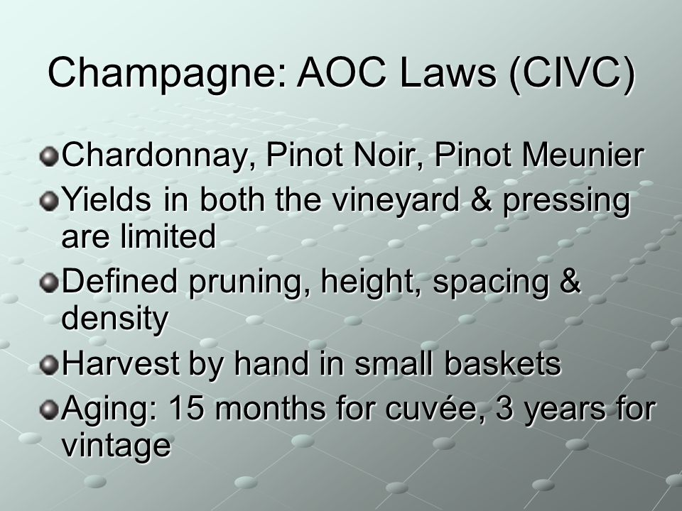 Champagne: AOC Laws (CIVC)
