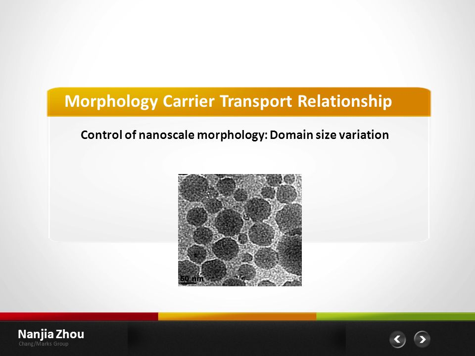 Morphology Carrier Transport Relationship