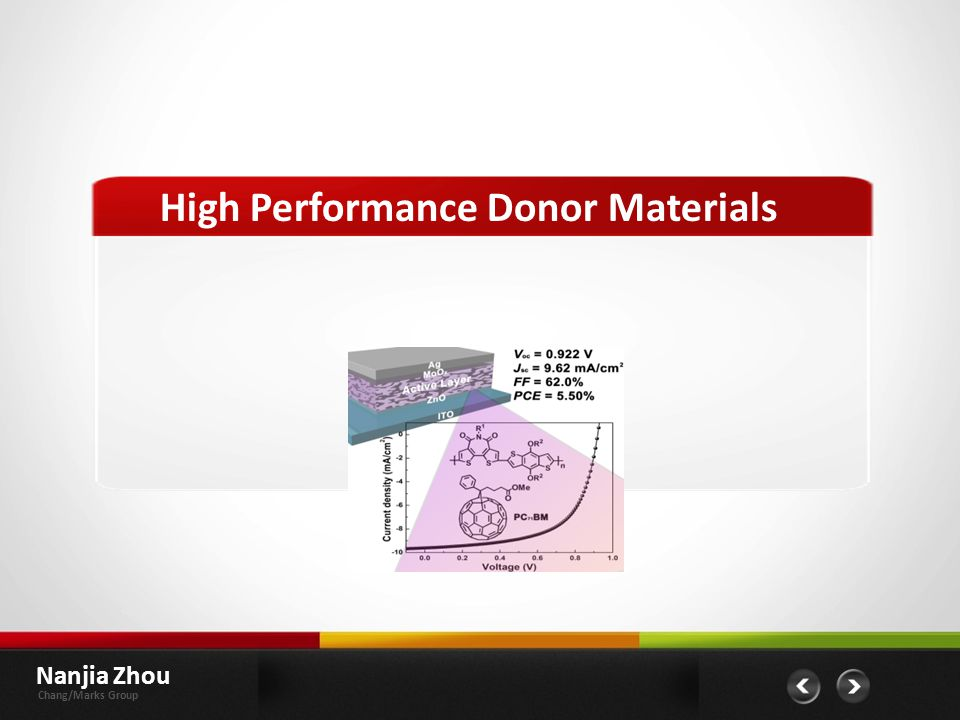 High Performance Donor Materials