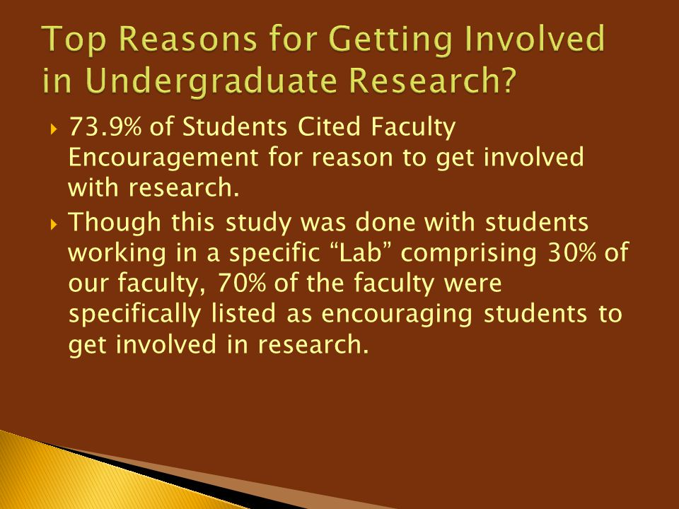 Top Reasons for Getting Involved in Undergraduate Research