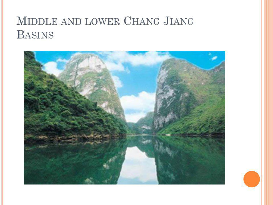 Middle and lower Chang Jiang Basins