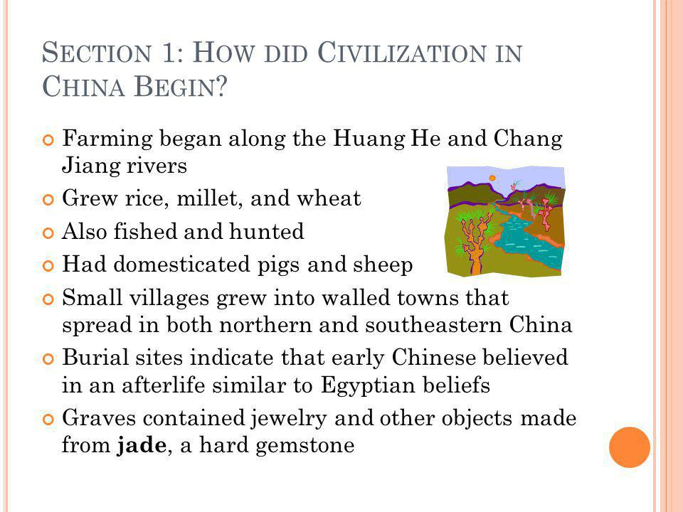 Section 1: How did Civilization in China Begin
