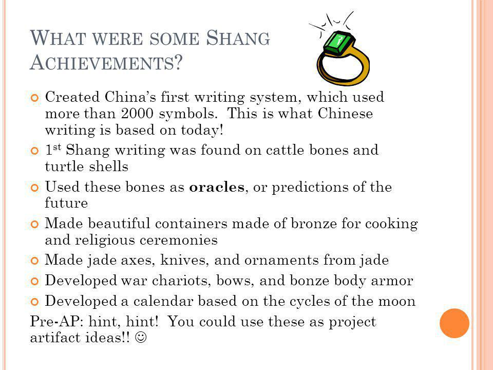 What were some Shang Achievements