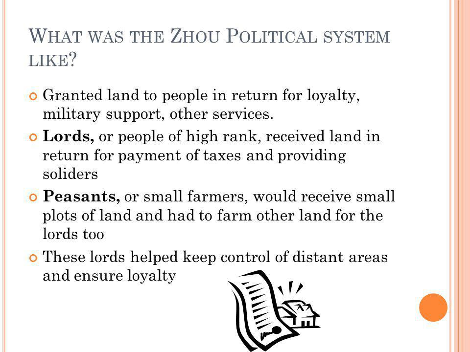 What was the Zhou Political system like